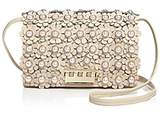 Zac Posen Earthette Faux-Pearl Floral Leather Crossbody