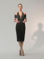 Nicole Bakti 6793 Cutaway Plunging Sheath Dress