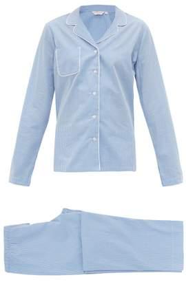 Derek Rose Gingham Cotton Pyjamas - Womens - Blue