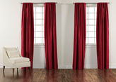 "Ethan Allen 100"" Ruby Satin Dupioni Rod-Pocket Panel"