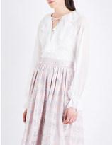 Temperley London Allure ruffled silk-chiffon blouse