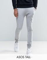 Asos Tall Super Skinny Joggers In Grey Marl