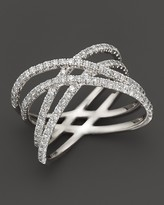Bloomingdale's Diamond Double Row Crossover Ring in 14K White Gold, .75 ct. t.w. - 100% Exclusive