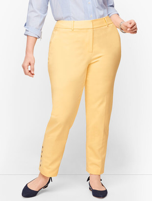 Talbots Plus Size Hampshire Ankle Pants - Curvy Fit - Button Hem