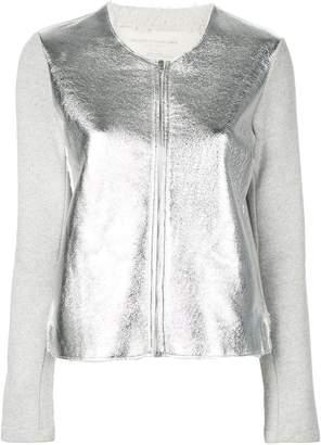 Majestic Filatures contrast sleeves jacket