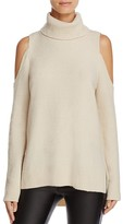 Sanctuary Cold Shoulder Turtleneck Sweater