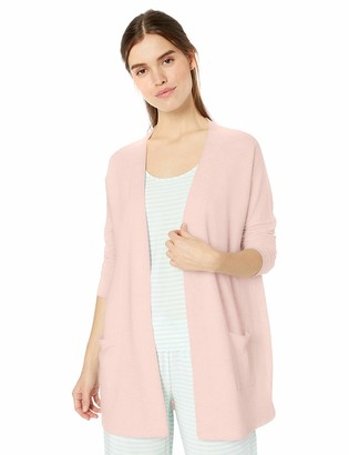 Amazon Essentials Women's Lightweight Lounge Terry Open-Front Cardigan