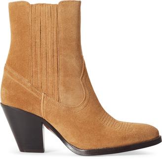 Ralph Lauren Lowrey Suede Cowboy Boot