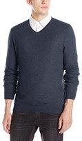 Vince Camuto Men's Plaited V-Neck Sweater