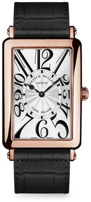 Franck Muller Long Island Rose Gold & Alligator Strap Watch
