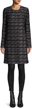 St. John Abstract Graphic-Knit Topper Coat