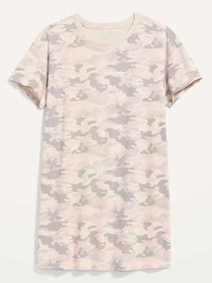 Old Navy Vintage Camo Plus-Size T-Shirt Shift Dress