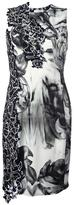 Versace printed fitted dress
