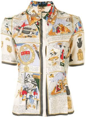 Hermes Pre-Owned Medieval Print Short-Sleeved Shirt
