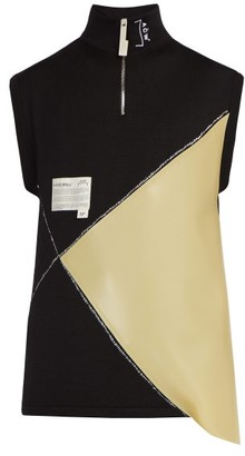 A-Cold-Wall* A Cold Wall* Sleeveless Wool-blend Sweater - Mens - Black Multi