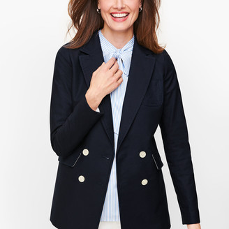 Talbots Double Breasted Oxford Blazer