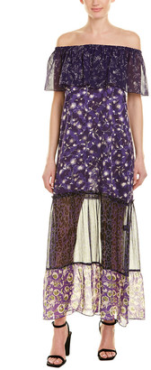 Anna Sui Artisan Soiree Silk Maxi Dress
