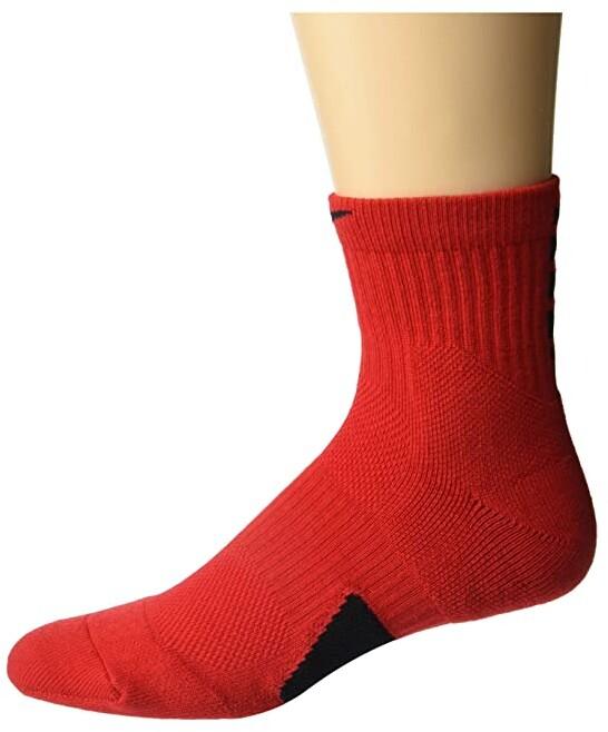 Elite Basketball Mid Socks (Black/White/White) Crew Cut Socks Shoes