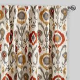 Orange Ikat Cotton Concealed Tab Top Curtains Set of 2