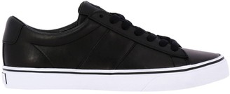 Polo Ralph Lauren Sayer Laced Sneakers In Leather With Embroidered Logo