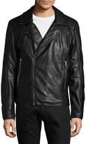 Karl Lagerfeld Faux Fur-Lined Biker Jacket
