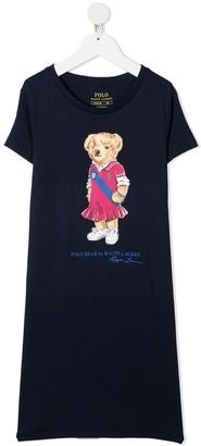 Ralph Lauren Kids teddy bear-print T-Shirt dress