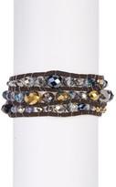 Jessica Simpson Multi-Layer Beaded Faux Suede Wrap Bracelet