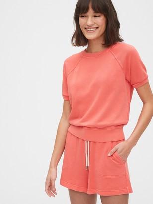 Gap Short Sleeve Sweatshirt in French Terry