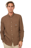 Barney Cools B Winnin Linen Ls Mens Shirt Green