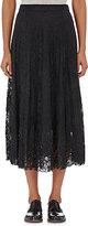 R/R Studio by Robert Rodriguez Women's Layered Chantilly Lace Midi-Skirt-BLACK