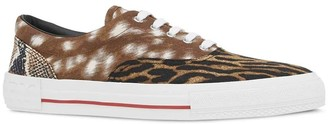 Burberry Mixed Animal Print Sneakers