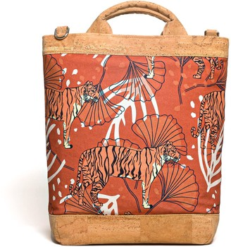 Vildare Bulong Convertible Tote Backpack Orange Tiger Orange