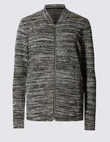 Marks and Spencer Long Sleeve Striped Bomber Jacket