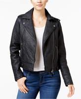 Collection B Faux-Leather Asymmetrical Moto Jacket