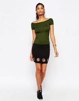 Asos Mini Skirt with Eyelet Hem