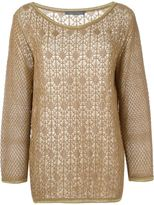 Alberta Ferretti open knit sweater