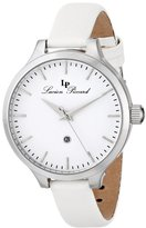 """Lucien Piccard Women's LP-12917-02-WHT """"Lleida"""" Stainless Steel Watch with Satin Band"""