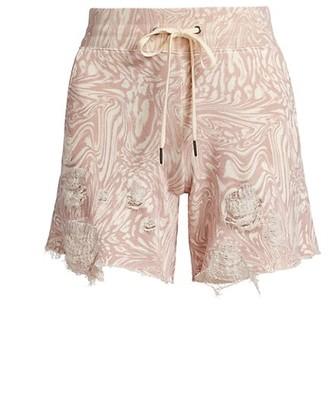 n:philanthropy Coco Swirled Distressed Shorts