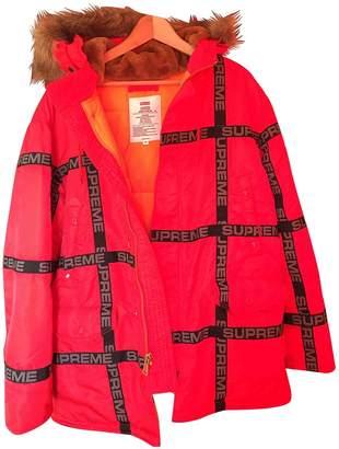 Supreme Red Faux fur Coats