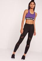 Missguided Active Mesh Panel Gym Leggings Black