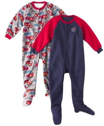 GE Gerber® Infant Toddler Boys' Robot 2-Pack Footed Blanket Sleeper