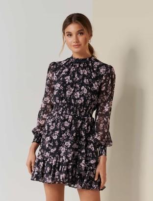 Forever New Callie Petite Skater Mini Dress - Blush Spray Floral - 10