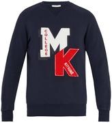 MAISON KITSUNÉ Logo-appliqué cotton-jersey sweatshirt