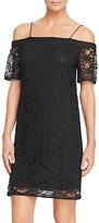 Aqua Off-The-Shoulder Lace Dress