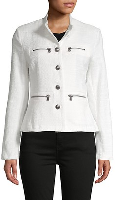 DOLCE CABO Textured Cotton-Blend Jacket
