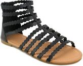 Black Laser-Cut Cairi Gladiator Sandal