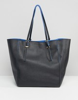 French Connection French Connetion Metallic Shopper Tote Bag
