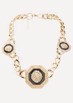 Bebe Lion Station Necklace