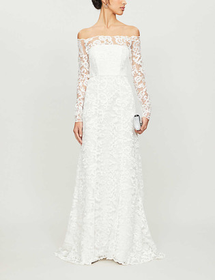 Whistles Melba bardot lace wedding gown