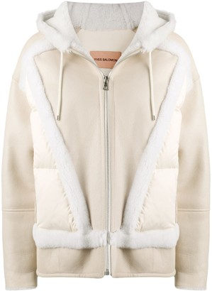 Yves Salomon Fur-Trim Bomber Jacket
